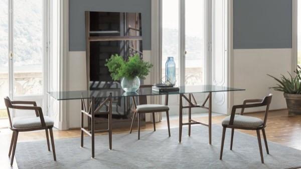 Tavolo design porada | Legno e vetro