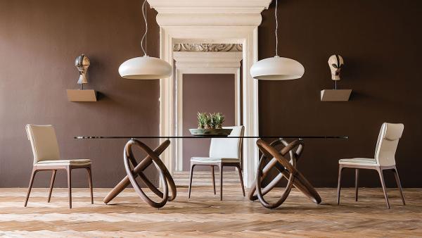 Tavolo design Cattelan | Legno e vetro