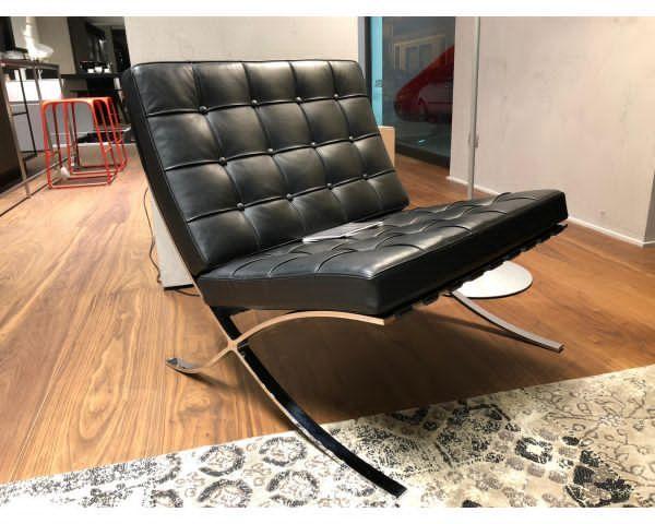 Alivar poltrona + sgabello Mies Van der Rohe