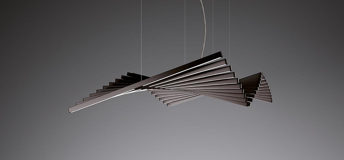 Lampada sospesa design Vibia