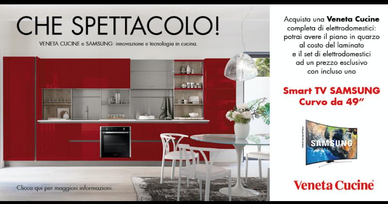 "Veneta Cucine: in regalo per te uno smart tv Samsung 49"""
