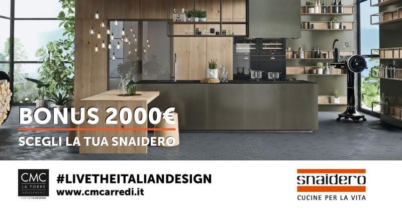 Snaidero: promo 2.000€ su tutti i modelli!